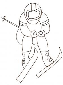 Coloriage ski alpin 2