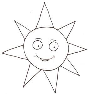 coloriage du soleil souriant