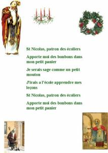 """Imprimer la chanson """" Saint Nicolas patron des écoliers"""