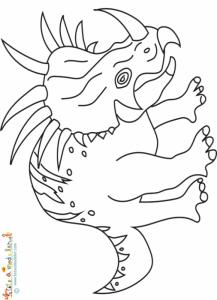 Styracosaure à colorier