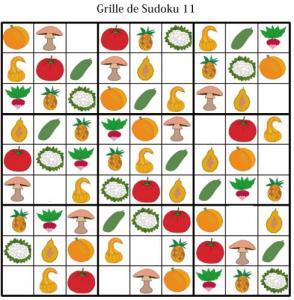 Imprimer les grille de sudoku 11 - sudoku enfant maternelle