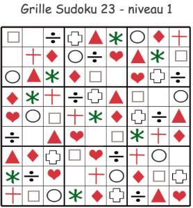 Imprimer le sudoku 23 de maternelle