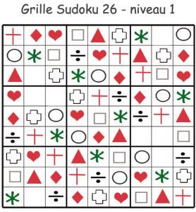 Sudoku 26 à imprimer pour les enfants de maternelle