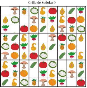 Imprimer les grille de sudoku 9 - sudoku enfant maternelle