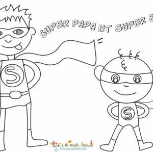 Super Papa et super Bébé