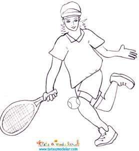 Un coloriage sur le Tennis à imprimer