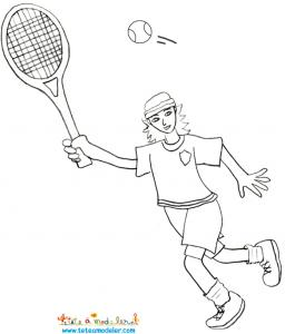 Tennisman à colorier