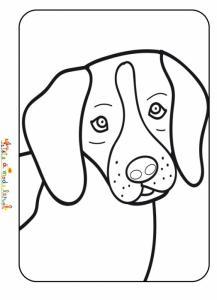 Coloriage tête de petit chien
