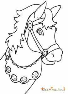 Coloriage tête de cheval