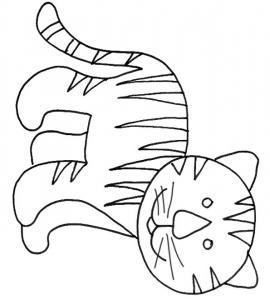 coloriage d'un petit tigre