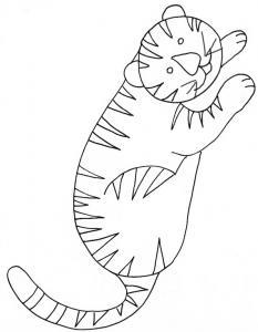 coloriage d'un tigre couché
