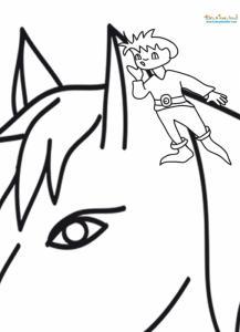 Tom Pouce dans l'oreille du cheval