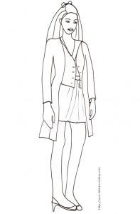Coloriage du Top Model avec veste longue