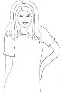 Coloriage du portrait de Top model