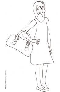 Coloriage du Top Model et it bag
