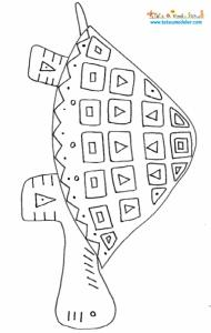 Tortue, coloriage d'une tortue d'art africain