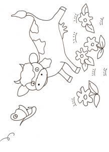 coloriage d'une vache - dessin 6