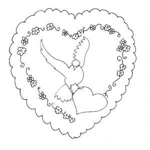 Carte saint valentin : motif coeur