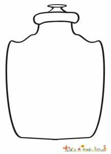 Vase barroque vierge