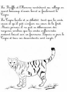 """Imprimer la page 8 du conte """"Le tigre et le paysan"""""""
