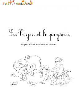 """Imprimer la couverture du conte """"Le tigre et le paysan"""""""