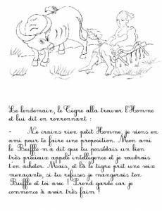 """Imprimer la page 5 du conte """"Le tigre et le paysan"""""""