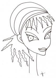 Jeune fille au foulard