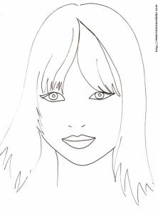 Mode Top Model Coloriage Fille.Coloriages De Top Model Les Coloriages De Manequins Tete