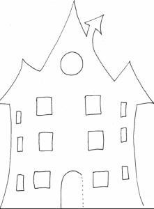 Modèle maison pour photophore junior
