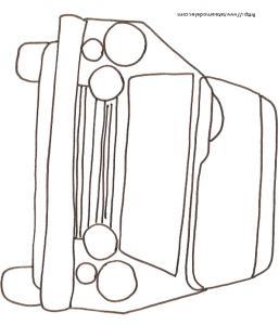 Coloriage d'une voiture vue de face dessin 4