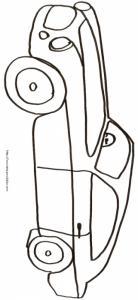 Coloriage d'une voiture coupé sportive