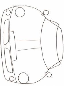 Coloriage d'une voiture de face