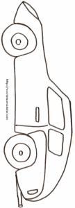 Imprimer le coloriage d'une voiture cabriolet