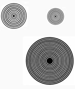 Imprimer la spirale pour l'expérience sur la vue