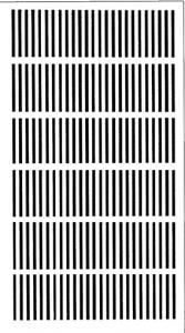Imprimer les bandes de traits pour l'expérience optique