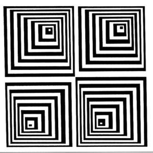 Imprimer les carrés pour l'expérience sur la vue