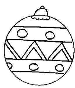 Coloriage boule de Noël : dessin 21