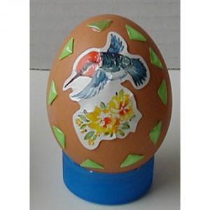 Exemple décoration printemps d'un oeuf de Pâques