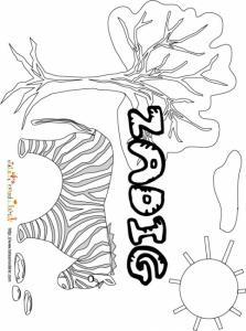 Coloriage prénom Zadig