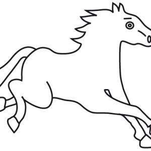 Coloriage signe du zodiaque: le cheval
