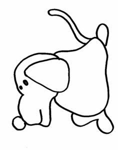 Coloriage d'un chien de profile