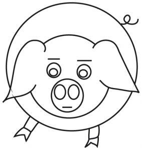 Coloriage signe du zodiaque: le cochon