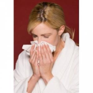 Femme malade de la grippe