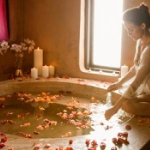 Le bain e fleurs