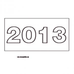 Gabarit des chiffres de l'année