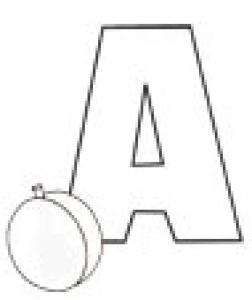 Colorie le A de l'alphabet comme ABRICOT