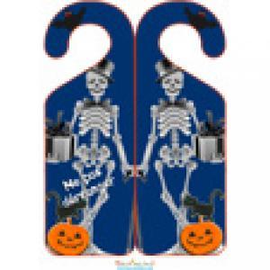 Accroche porte d'halloween : squelette d'Halloween