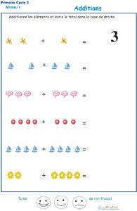 Imprimer la fiche d'additions visuelles  - exercice 5