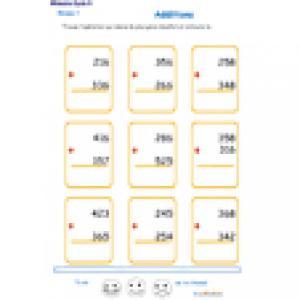 additions en colonne 2 chiffres