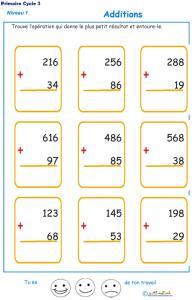 Imprimer les additions en colonne 2 chiffres  fiche 2